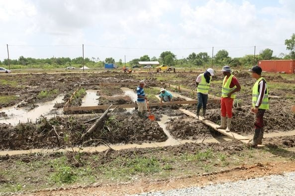 The construction of 190 low-income homes in Cummings Lodge is on a surge, according to the government of Guyana. But people of Guyana are telling a different story